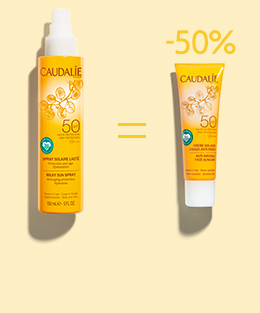Buy a suncare product = Get the second half price!